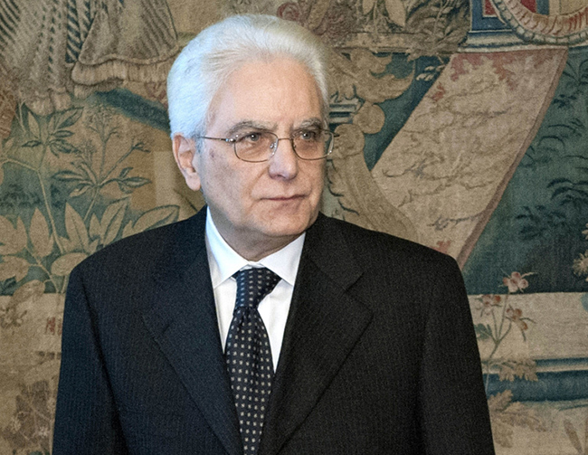 Italy's new President Mattarella visits the Constitutional Court headquarters in Rome