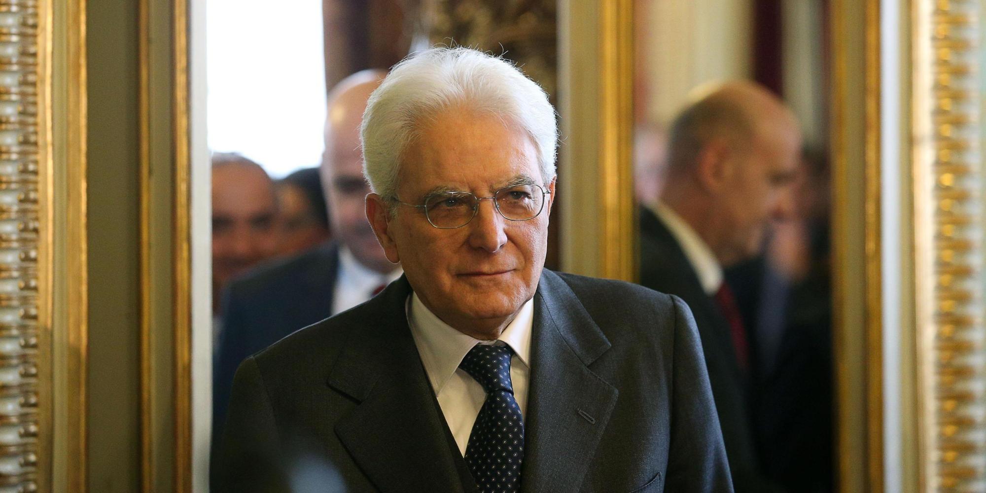 Il neo presidente della Repubblica Sergio Mattarella nella sede della Corte Costituzionale, Roma, 31 gennaio 2014. ANSA/ALESSANDRO DI MEO
