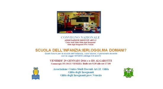 convegno Scuola Infanzia - Venezia, 29 gennaio 2016