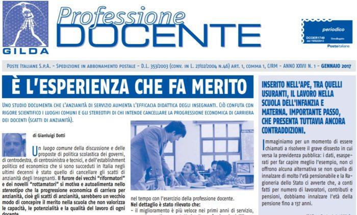 PROFESSIONE DOCENTE: ON LINE L´EDIZIONE DI GENNAIO 2017