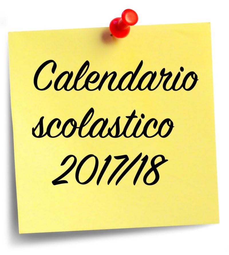 Risultati immagini per calendario scolastico 2017 18