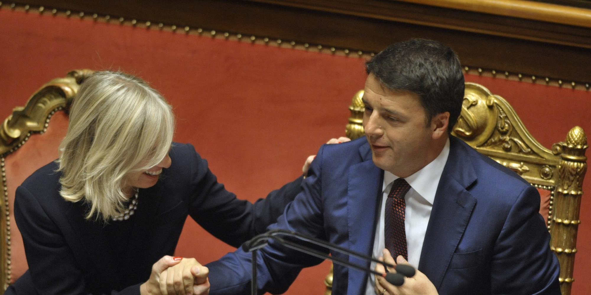 16/09/2014 Roma, Senato, il presidente del Consiglio Matteo Renzi illustra il programma del governo dei Mille Giorni, nella foto Stefania Giannini, ministro dell'istruzione