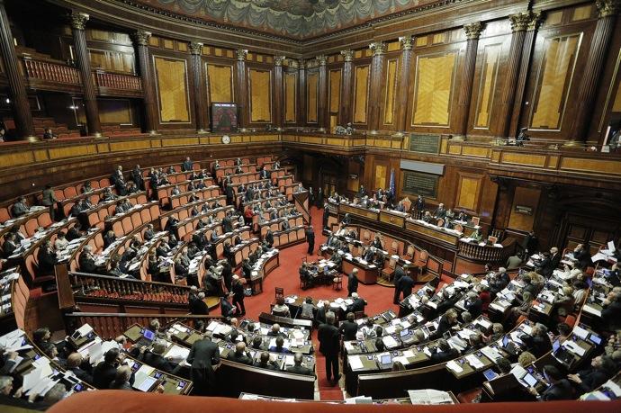 Aula del Senato durante dichiarazioni di voto fiducia su Legge Stabilit‡, Roma, 26 novembre 2013. ANSA/GIUSEPPE LAMI