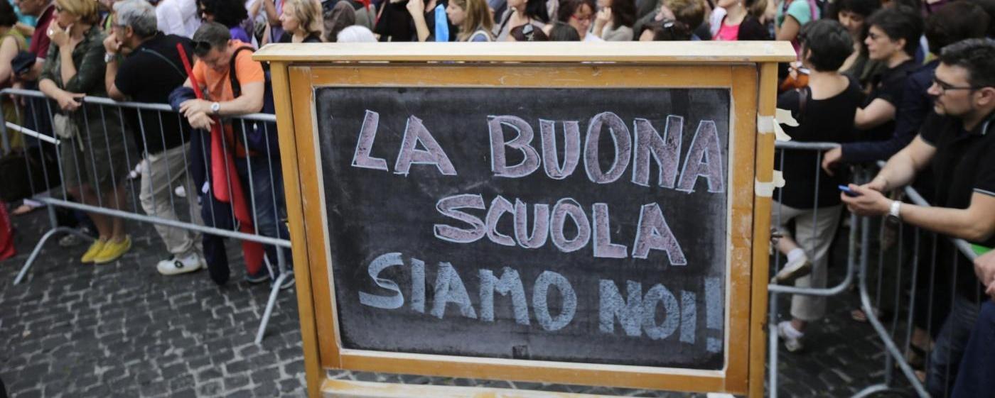 Manifestazione contro la riforma della scuola