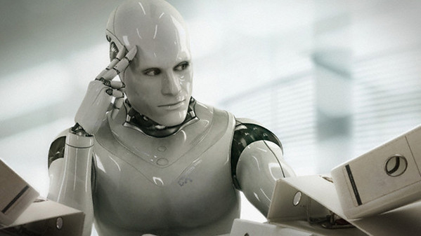 Thinking Robot --- Image by © Blutgruppe/Corbis