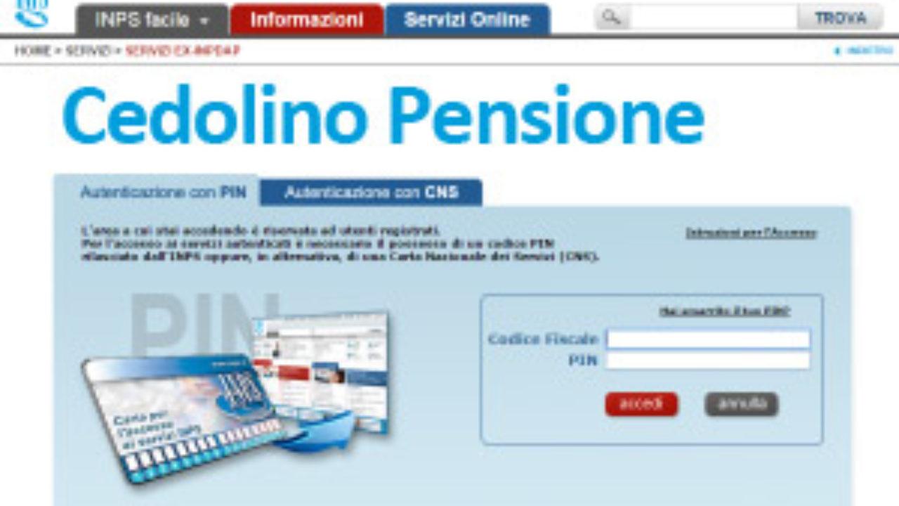 Cedolino Della Pensione Modalita D Accesso Sul Sito Dell Inps Info Utili Gilda Venezia