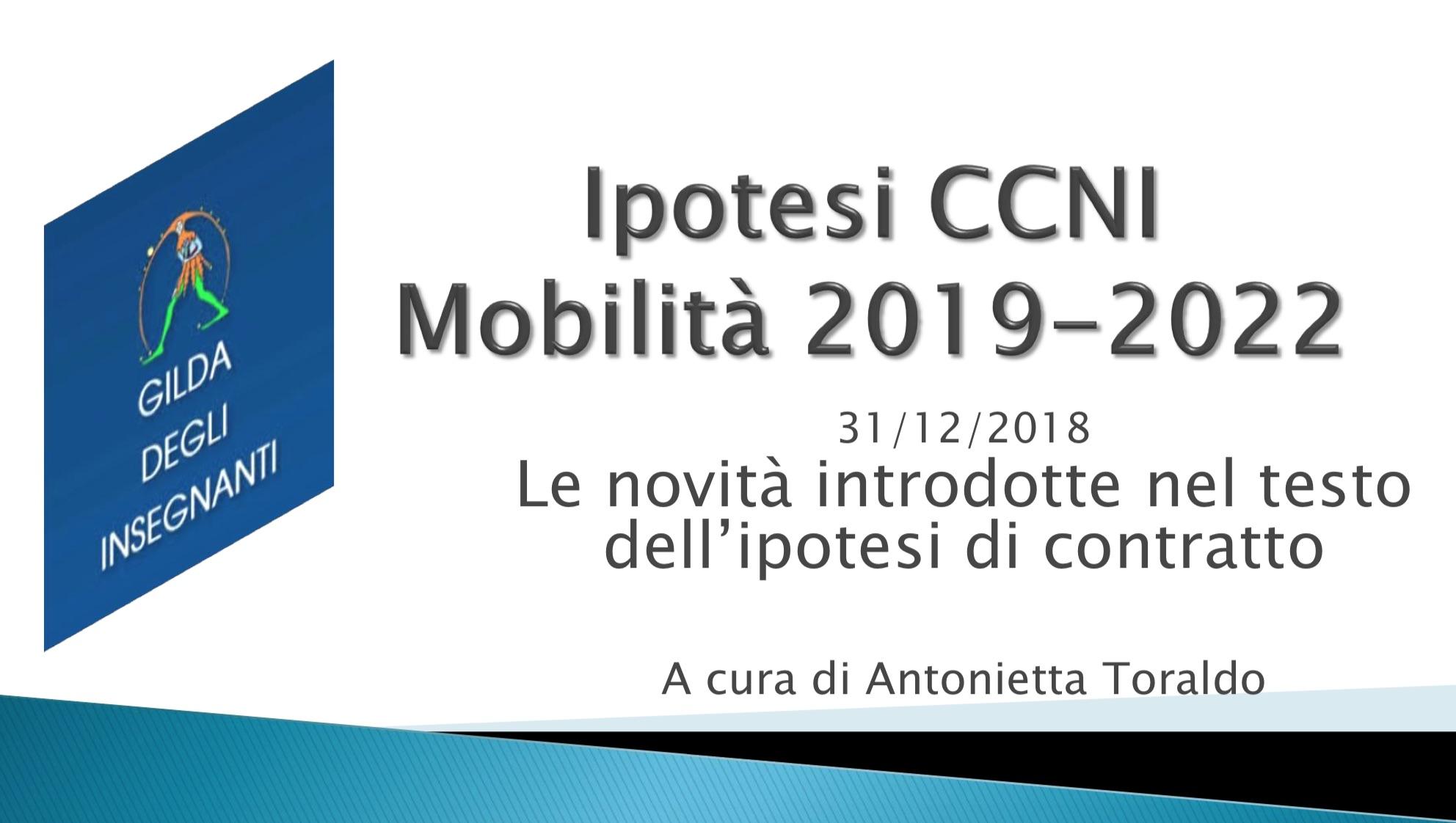 MOBILITÀ 2019/22. LE NOVITÀ DEL NUOVO CONTRATTO