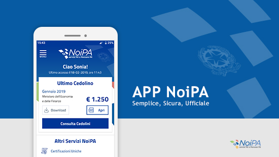 CEDOLINO NOIPA, ECCO L'APP UFFICIALE PER VISUALIZZARLO DA SMARTPHONE (IOS E ANDROID)