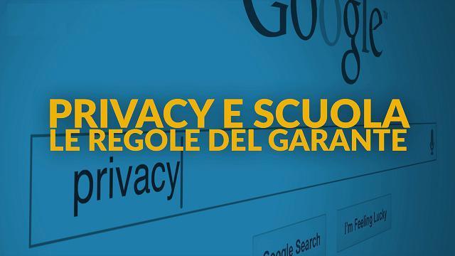 Privacy tra i banchi di scuola | Gilda Venezia